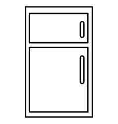 Black and white fridge graphic vector