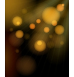 Blurred golden bubbles shimmering background vector