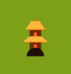 chinese temple of heaven pagoda vector image vector image