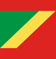 Colored flag of the congo vector