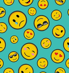 Cute emoji designs seamless pattern vector