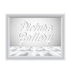 Empty gallery wall with frame vector image vector image