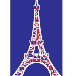 french fashion vector image
