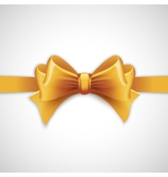 Gold holiday ribbon with bow vector
