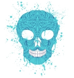 Grunge skull on white background vector