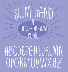 hand drawn alphabet skinny handwriting font vector image vector image