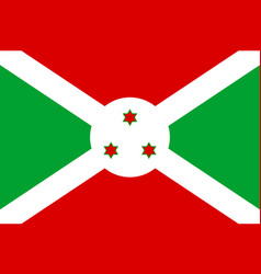 national flag republic of burundi vector image vector image