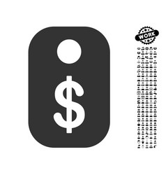 Price tag icon with work bonus vector