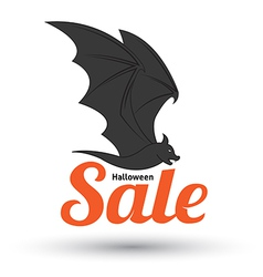 Sale text with bat for halloween vector