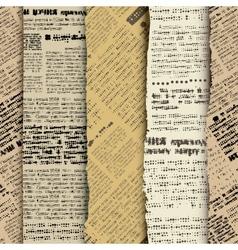 Scrapbook newspaper vector