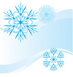 Snowflakes abstract blue backdrop vector