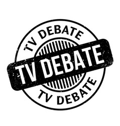 Tv debate rubber stamp vector