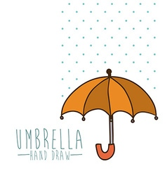 Umbrella design vector image vector image