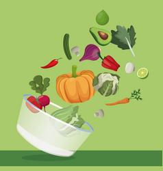vegetables salad fresh ingredients image vector image