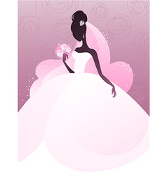 young bride vector image