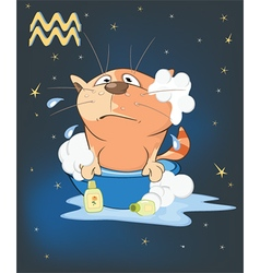 Zodiac signs aquarius cartoon vector