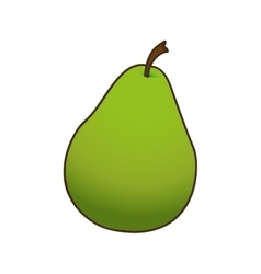 Pear fruit icon image vector
