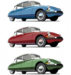 French cars icon set vector