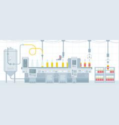 beer on conveyor belt vector image