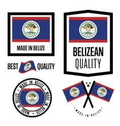 Belize quality label set for goods vector