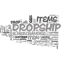 When you decide to dropship text word cloud vector