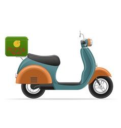 Retro scooter 02 vector