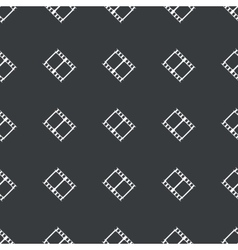 Straight black film strip pattern vector