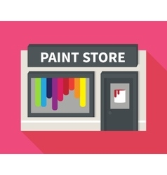 flat hardware shop paint store vector image