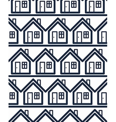 Simple houses continuous background property vector