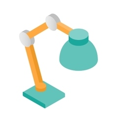 Table lamp isometric 3d icon vector