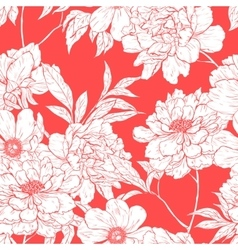 Floral pattern with flowers vector
