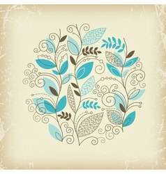 Floral composition on old paper vector