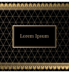 Black and gold decorative background vector image
