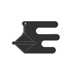 Black icon on white background kids whirligig vector