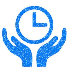 Clock maintenance grunge icon vector