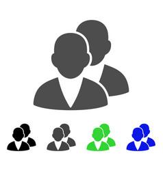 Customers flat icon vector