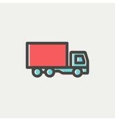 Delivery truck thin line icon vector image vector image