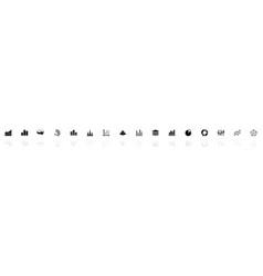 Diagram graphs - flat icons vector