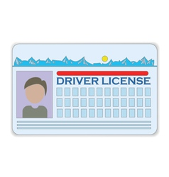 driver license vector image
