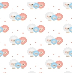 Family of sheep Pattern vector image