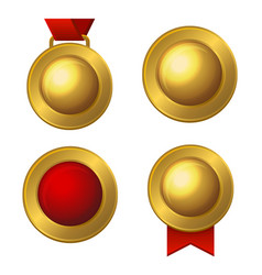 golden labels and medals set vector image vector image