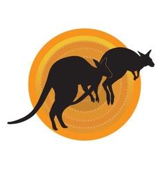 Kangaroos Running vector image vector image