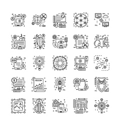 Line Icons With Detail 1 vector image vector image