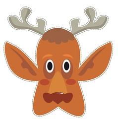 Mask deer vector
