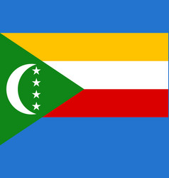 national flag of comoros vector image vector image
