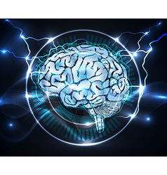 power of brain vector image vector image