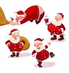 Santa Claus collection vector image vector image