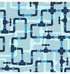 Seamless pattern with water pipeline vector
