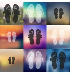 slippers icon on blurred background vector image vector image