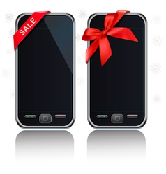 Touch-screen mobile phones vector